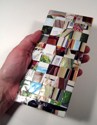 Recycled junk mail checkbook cover