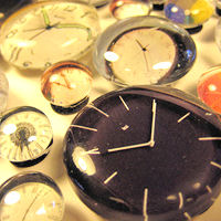 Recycled Magazines Clocks Magnets