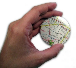 Recycled map mirrors