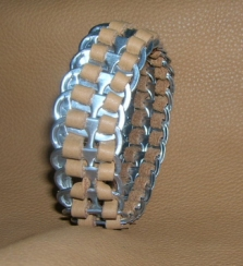 pull tab leather bracelet