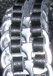 Recycled aluminum pull tab bracelet
