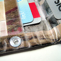 Recycled junk mail wallet
